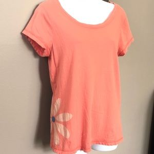 Lucky Brand Knit Wear Scoop Neck T-Shirt, Large.
